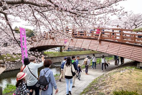 堀尾跡公園・裁断橋