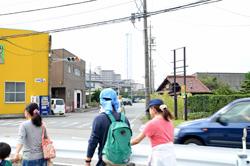 幹線道路の向こうには、稲沢市のランドマークでもある「SOLAÉ(ソラエ)」が見えます。