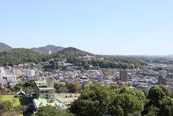 天守閣からは、犬山の町が一望できました。