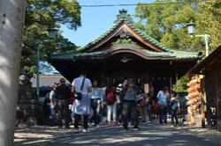 深川神社では、立ち寄って参拝する方もたくさんいらっしゃいました。