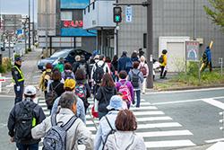 佐奈川を抜け、また市街地を進みます。
