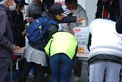 八幡上ノ蔵公園に到着!公園では50回開催記念イベントの応募箱が設置されていました。