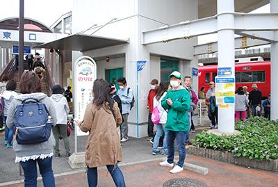 ゴール!国府駅に到着です。