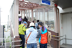 国府駅から帰途につきます。参加されたみなさま、お疲れ様でした。