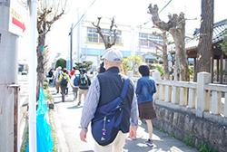 ゴール後は、「岩倉桜まつり」ルートで駅を目指します。