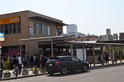 まつり会場を抜けて、岩倉駅から帰途につきます。参加されたみなさま、お疲れ様でした。